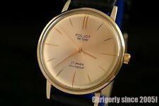 Luxury style Rare Golden dial ultra slim wrist watch Poljot De Luxe 2209