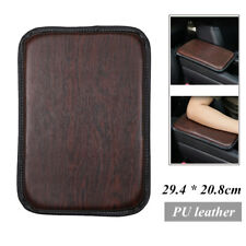 Leather Car Armrest Box Protective Pad Wood Grain Cover Center Console Non-slip