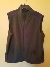 Tek Gear Vest Size XL Mens Green Fleece Zip Front Vest Size XL