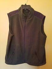 Tek Gear Mens Green Fleece Zip Front Vest Size XL