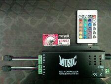 RGB MUSIC CONTROLLER + 24 Key IR Remote | 12Amp. | SMD 5050 LED Strips & Module