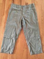 COLUMBIA Omni-dry TITANIUM WOMEN'S CAPRI PANTS ROLL CUFFS SZ 8 Hiking Med