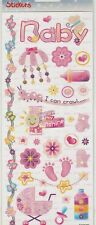 HobbyFun Stickers 3451-306 Auto-collants Naissance Bébé Fille Baby Girl