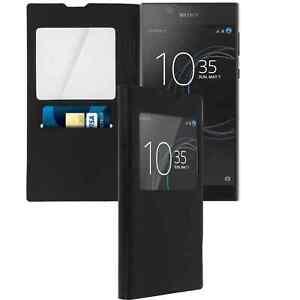 Coque Etui Housse de protection Porte carte pour Sony Xperia L1 -Noir