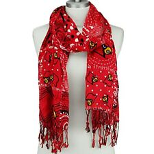 NCAA UNIVERSITY of  LOUISVILLE CARDINALS MIXED PRINT SCARF