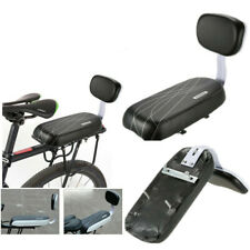 Kids Bicycle Rear Seat w/ Back Rest PU Leather Soft Cushion Child Chair Carrier~