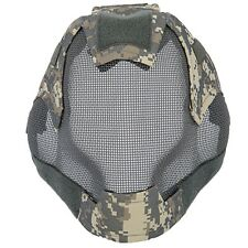 Airsoft Tactical Full Mask Mesh Projectile BBs Protection Metal Wire ACU AC-472A