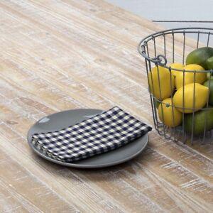 VHC Brands Farmhouse Napkins Set of 6 Blue Katie Cotton Kitchen Table Decor