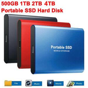 USB 3.1 Solid State External SDD Hard Drive Disk Mobile Storage 1TB 2TB 4TB 8TB