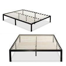 Mattress Frame Platform for King Size Beds Metal Wooden Slat Support Box Spring