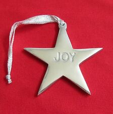 Silver Star JOY Christmas Ornament Hanging Package Decor Metal 3.25  inch