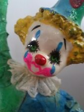 Vintage Paper Mache Mexican Folk Art Clown Hanging Balloons