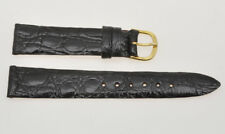Cinturino black crocodile strap 15mm (14mm buckle) new unused