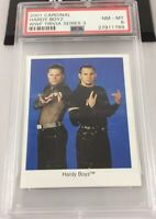Hardy Boyz 2001 Wwf Cardinal Trivia Series 3 Card Rookie White Border Psa 8