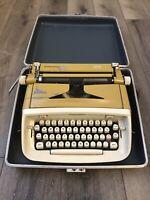 Vintage 1965 Goldenrod Royal Safari Portable Typewriter & Case Portable Manual