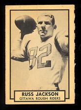 1962 TOPPS CFL FOOTBALL #100 RUSS JACKSON EX-NM OTTAWA ROUGH RIDERS McMASTER