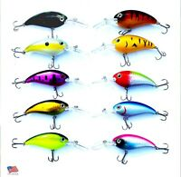 USA LOT of 10 Fishing Lures Hard Minnow Crankbaits Hard  Swimbait BASS CRAPPIE