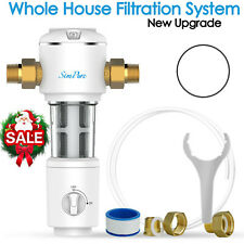 Whole House Sediment Water Filter Spin Down Home Filtration System 40 Micron New