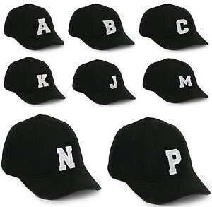 Casual Cotton Baseball Cap A-Z Alphabet letter Caps adjustable Strap Snapback