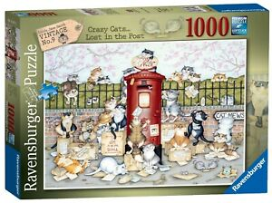 Ravensburger 1000pc Puzzle - Crazy Cats...Lost In The Post 16417