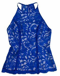Bardot Size 6 (AU/UK) 2 (US) Jen Lace Top - Cobalt Blue -Lined-