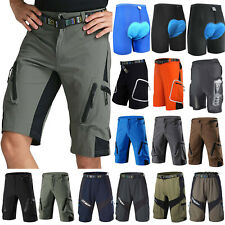 Mountain Bike Mens Shorts Outdoor Cycling Riding MTB Bicycle Zip Pocket Pants AU