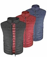 Mens Quilted Padded Lined Gillet Gilet Outdoor Sleeveless Coat Bodywarmer Jkt