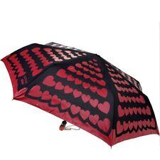 Ombrello Moschino Nero con cuori rossi Umbrella 7447