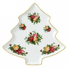 Royal Albert Old Country Roses Christmas Tree Tray NEW IN THE BOX