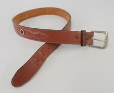 Levis Leather Belt Concho Strauss and Co Western Billets Brown 34 36 Vtg
