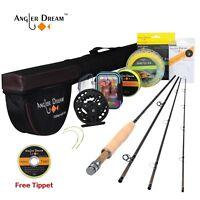 3/5/8WT Fly Fishing Combo 9FT Fly Rod with Reel Kit Black Fly Reel Rod Tube