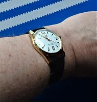 Absolutely Superb Gift. Gold Plated Men's Hand Winding Wristwatch.  HMT PILOT.