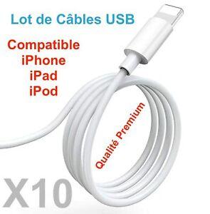 Chargeur Cable USB Cordon Renforcé 1M Pour iPhone 6 7 8 Plus X XS XR 11 Pro Max