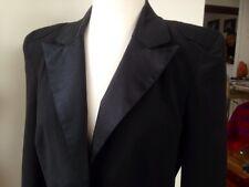 Black Tuxedo Jacket with satin sz 12