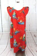 Vtg Hawaiian Dress Muumuu Women's Xl Surfside Sportswear Red Sailboats Nwt