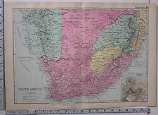 1891 ANTIQUE MAP ~ SOUTH AFRICA CAPE COLONY GREAT NAMAQUA LAND ORANGE FREE STATE