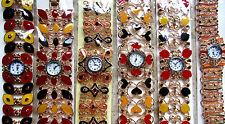Unbranded Stainless Steel Case Gemmed Wristwatches