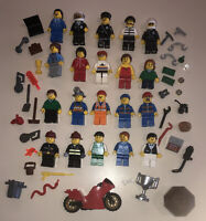 Lego Minifigure Town / City People + Tons Of Accessories - Lot BB