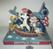 Jim Shore Disney 'Unstoppable Heroes' American Patriots Mickey Donald Goofy EXC.