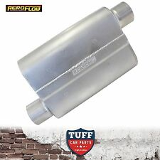 "Aeroflow 5000 Series Steel Muffler 3"" Offset Inlet Offset Outlet AF5000-300 New"