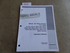 """CASE BRX160 60"""" Rotary Broom for D/DX Tractor Operator's Manual 84715836"""