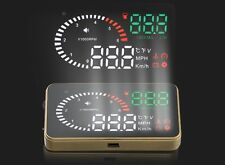 "X6 3"" Car HUD Head Up Display OBD 2 Speed Warning System Fuel Consumption Auto"