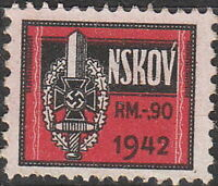 Stamp Germany Revenue WWII 3rd Reich War NSKOV Labor Front 1942 Used