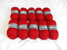 Red Double Knit Yarn 10 x 100g balls