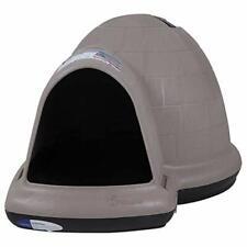 New listing Petmate Igloo Dog House Indigo Mircoban Large Taupe Black Heavy Duty 25946 New