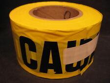 """Presco B3102Y13 Caution/Cuidado Bilingual 2 mil Barricade Tape - 3"""" x 1000' New"""