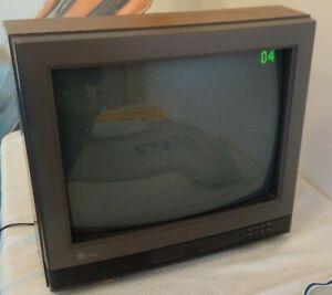 vintage GE 20'' 20GT420 TV retro GAMING woodgrain NES Sega Atari WORKS 1990 SNES