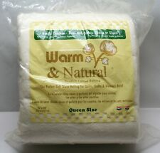 "Warm Company Warm & Natural Cotton Batting Queen Size 90""X 108"" 2341"