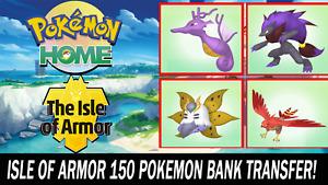 Pokemon Home Sword and Shield Isle of Armor DLC Pokemon!! (Pokebank Transfer)