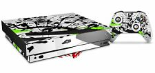 Skin for XBOX One X Console Controller Baja 0018 Lime Green Decal